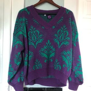 90's Block Party Vintage Sweater - Lupo Donna